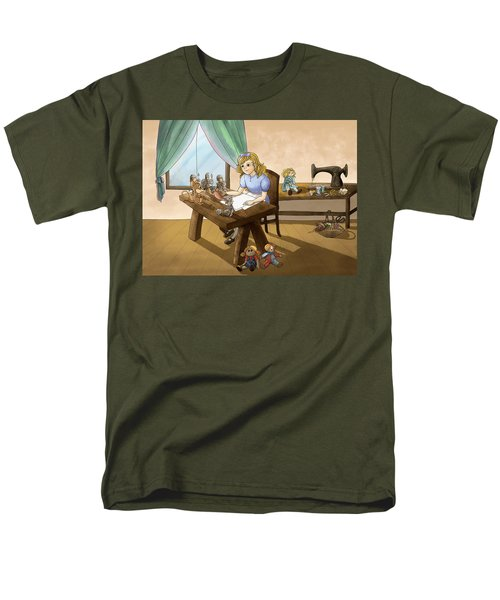 Men's T-Shirt  (Regular Fit) featuring the painting Tammy The Little Doll Girl  by Reynold Jay