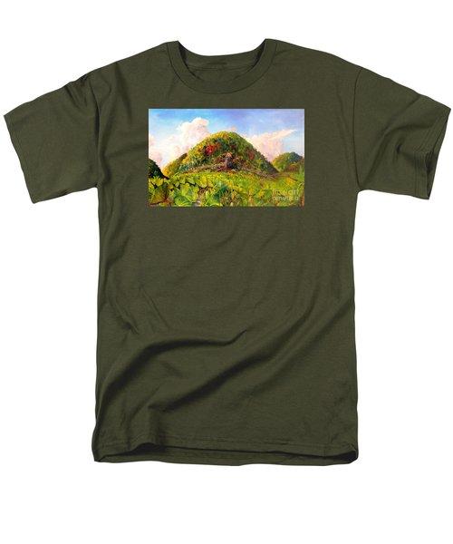 Men's T-Shirt  (Regular Fit) featuring the painting Taro Garden Of Papua by Jason Sentuf