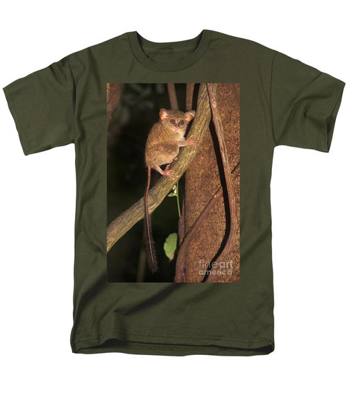 Tarsius Tarsier  Men's T-Shirt  (Regular Fit) by Sergey Lukashin