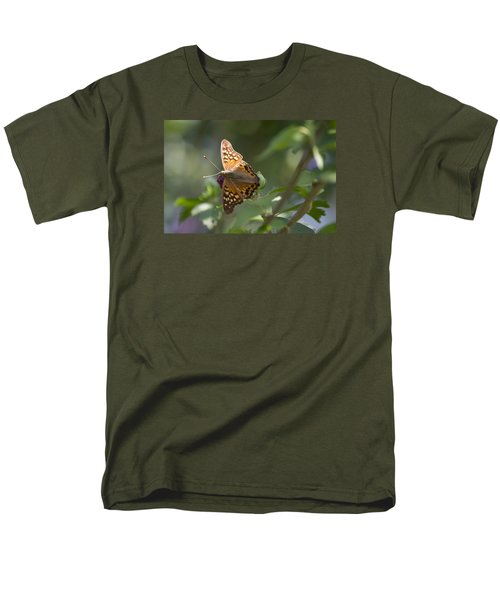 Tawny Emperor On Hibiscus Men's T-Shirt  (Regular Fit) by Shelly Gunderson