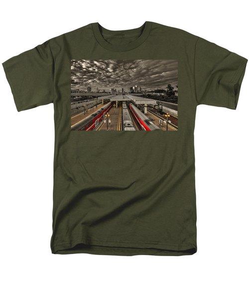 Tel Aviv Central Railway Station Men's T-Shirt  (Regular Fit) by Ron Shoshani