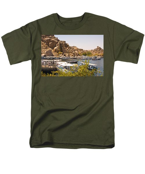 Temple Boat Dock Men's T-Shirt  (Regular Fit) by James Gay