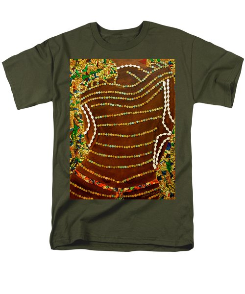 Men's T-Shirt  (Regular Fit) featuring the tapestry - textile Temple Of The Goddess Eye Vol 2 by Apanaki Temitayo M