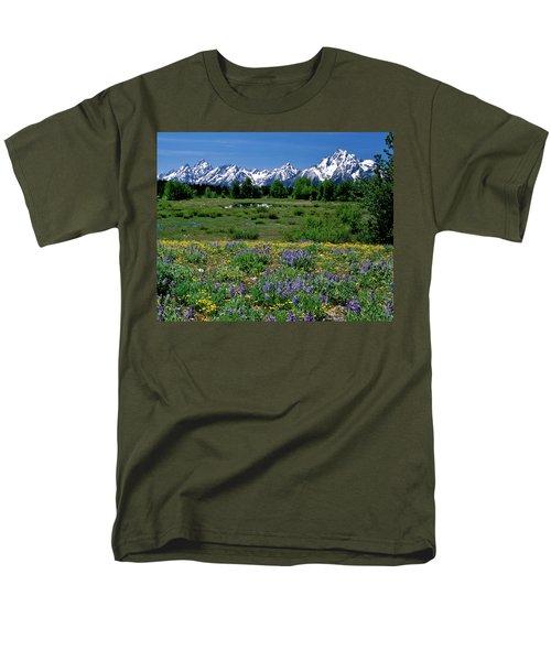 Teton Grandeur Men's T-Shirt  (Regular Fit) by Ed  Riche