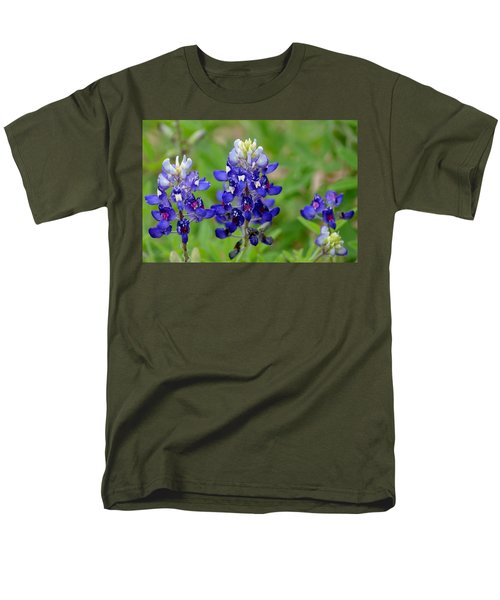 Men's T-Shirt  (Regular Fit) featuring the photograph Texas Bluebonnets by Debra Martz
