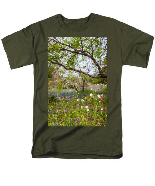 Texas Roadside Wildflowers 732 Men's T-Shirt  (Regular Fit) by Melinda Ledsome
