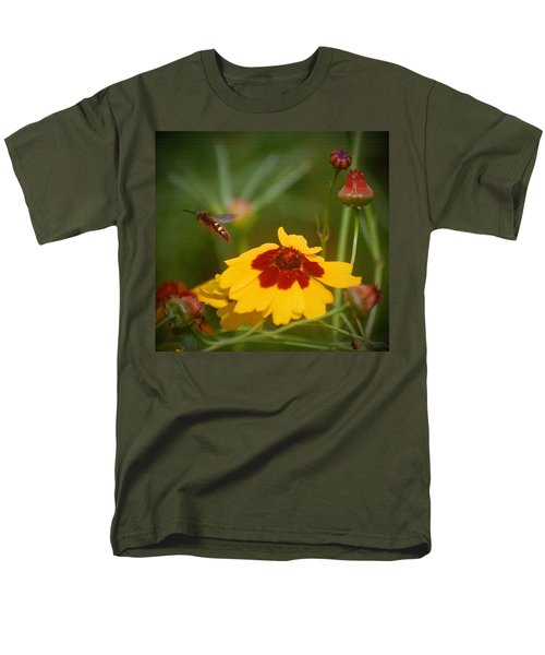 Men's T-Shirt  (Regular Fit) featuring the photograph Textured Bee by Leticia Latocki
