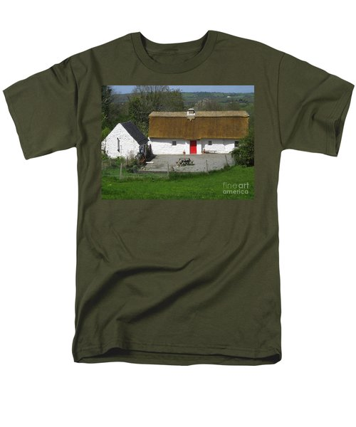 Thatched Cottage Men's T-Shirt  (Regular Fit) by Suzanne Oesterling