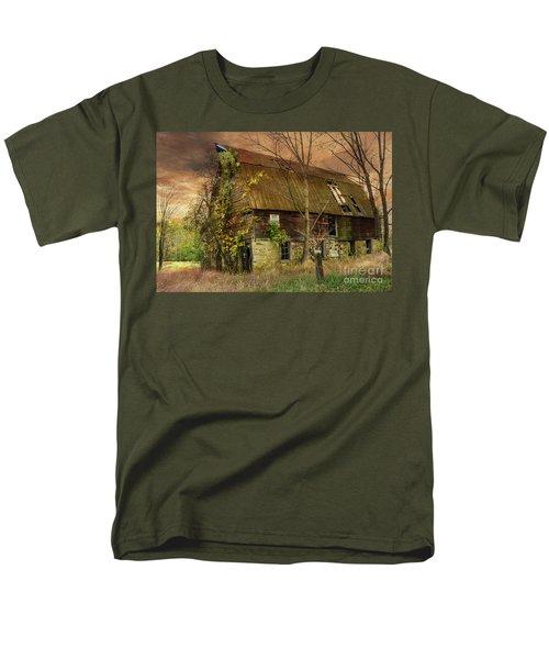 The Abandoned Barn Men's T-Shirt  (Regular Fit) by Debra Fedchin