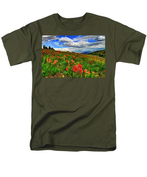 The Art Of Wildflowers Men's T-Shirt  (Regular Fit) by Scott Mahon