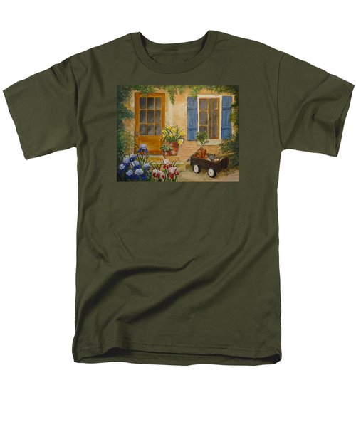 Men's T-Shirt  (Regular Fit) featuring the painting The Back Door by Marilyn Zalatan