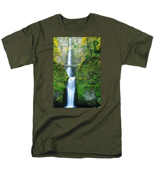 The Beauty Of Multnomah Falls Men's T-Shirt  (Regular Fit) by Jeff Swan