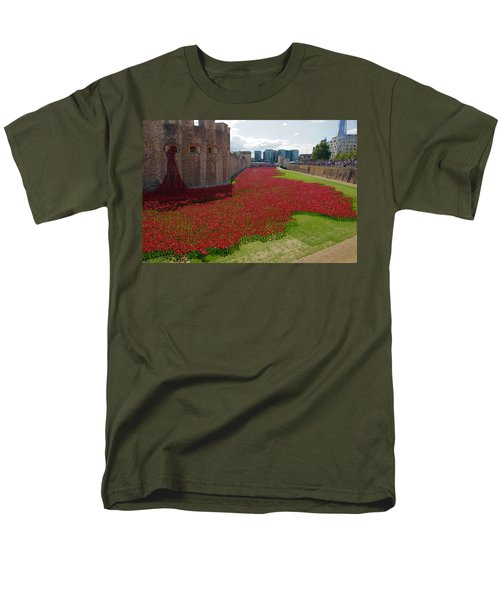 The Bloody Tower Men's T-Shirt  (Regular Fit) by Ron Harpham