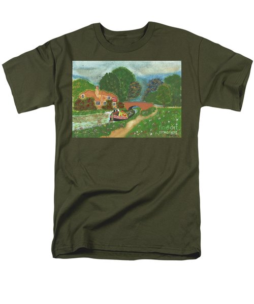 Men's T-Shirt  (Regular Fit) featuring the painting The Bridge Inn by John Williams