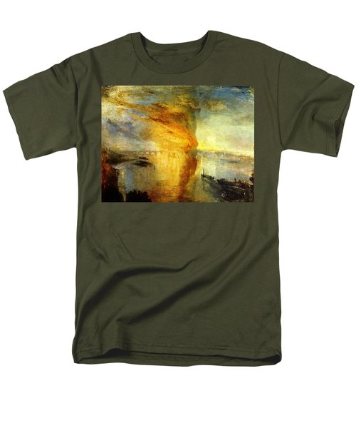 The Burning Of The Houses Of Lords And Commons Men's T-Shirt  (Regular Fit) by Celestial Images