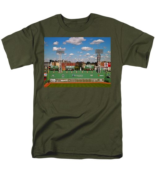 Men's T-Shirt  (Regular Fit) featuring the photograph The Classic II Fenway Park Collection  by Iconic Images Art Gallery David Pucciarelli