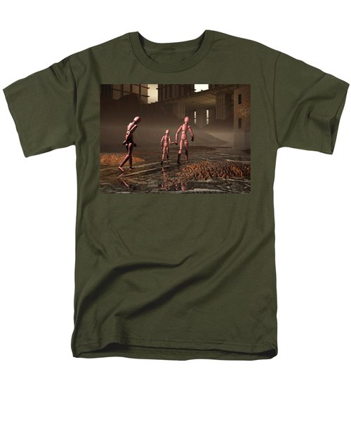 Men's T-Shirt  (Regular Fit) featuring the digital art The Exiles Sojourn by John Alexander