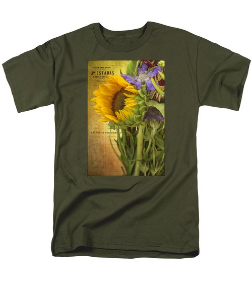 Men's T-Shirt  (Regular Fit) featuring the photograph The Flower Market by Priscilla Burgers