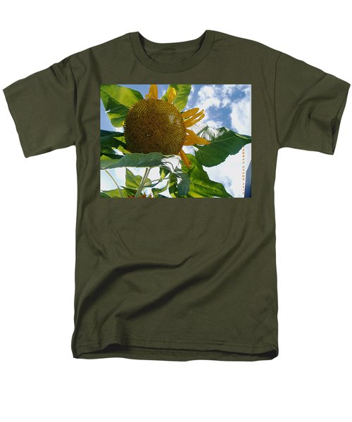 Men's T-Shirt  (Regular Fit) featuring the photograph The Gigantic Sunflower by Verana Stark