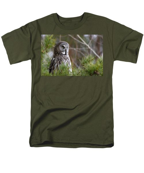 The Great Grey Owl Men's T-Shirt  (Regular Fit) by Torbjorn Swenelius