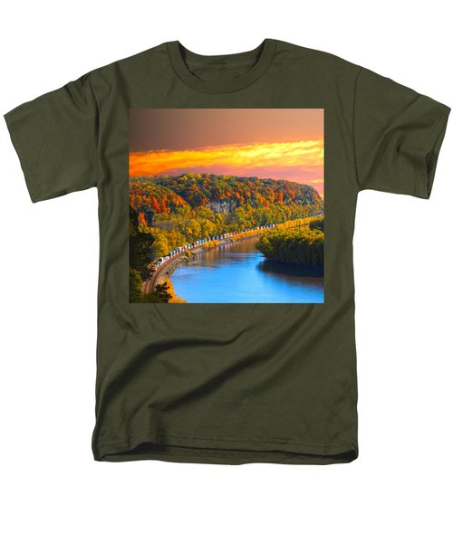 The Hobo Train Up The Mississippi Men's T-Shirt  (Regular Fit) by Randall Branham
