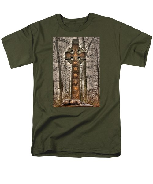The Irish Brigade At Gettysburg  63rd-69th-88th New York Infantry St. Patricks Day 2012 Close-a Men's T-Shirt  (Regular Fit) by Michael Mazaika