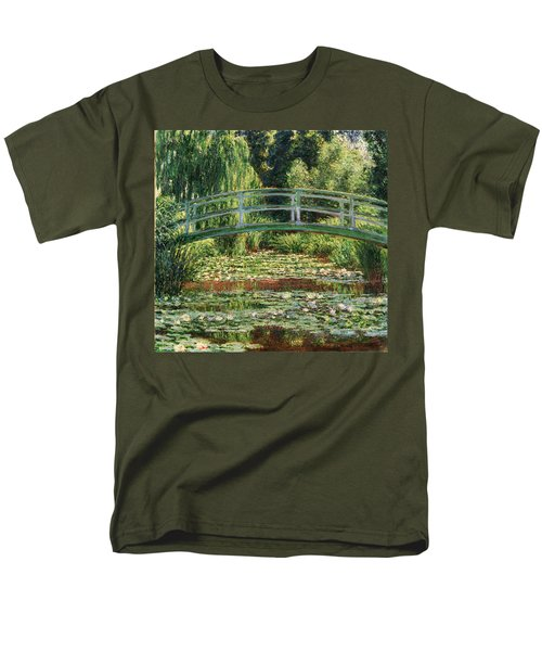 The Japanese Footbridge And The Water Lily Pool Giverny Men's T-Shirt  (Regular Fit) by Claude Monet
