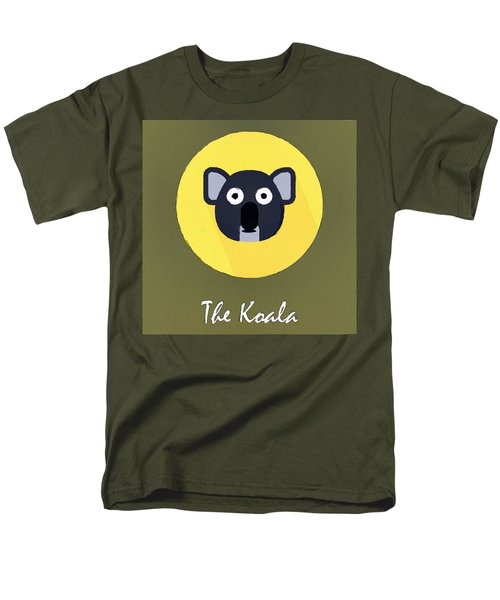 The Koala Cute Portrait Men's T-Shirt  (Regular Fit) by Florian Rodarte