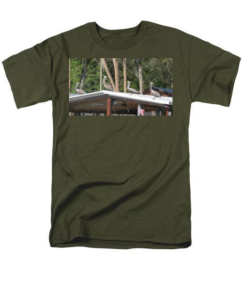 Men's T-Shirt  (Regular Fit) featuring the photograph The Lineup by Fortunate Findings Shirley Dickerson