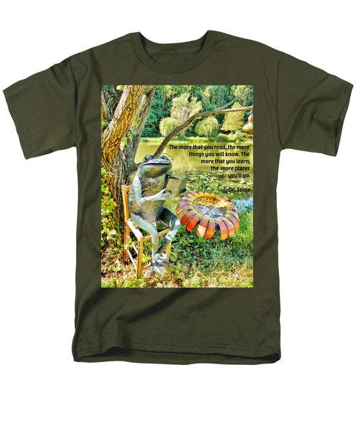 Men's T-Shirt  (Regular Fit) featuring the photograph The More That You Read... by Jean Goodwin Brooks