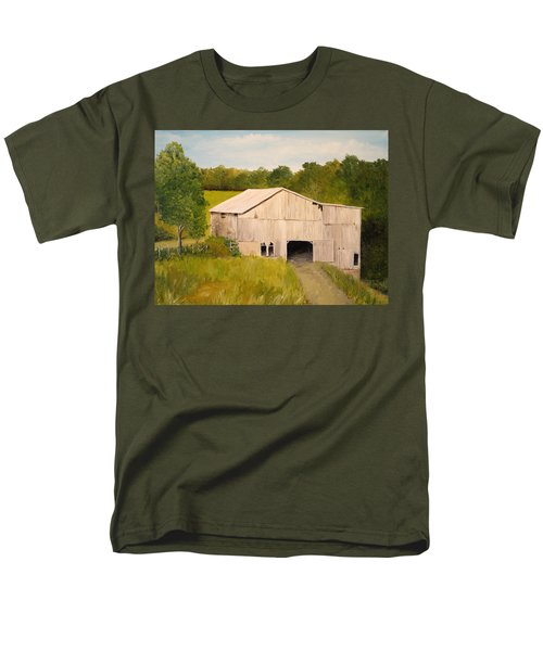 Men's T-Shirt  (Regular Fit) featuring the painting The Old Barn by Alan Lakin