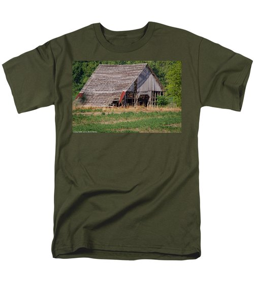 Men's T-Shirt  (Regular Fit) featuring the photograph The Old Gray Barn by Nick Kirby