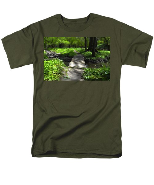 The Painted Forest From The Series The Imprint Of Man In Nature Men's T-Shirt  (Regular Fit) by Verana Stark