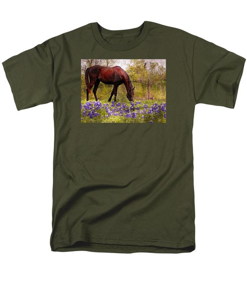 Men's T-Shirt  (Regular Fit) featuring the photograph The Pasture by Kathy Churchman
