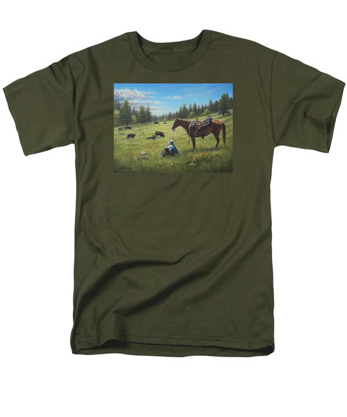 Men's T-Shirt  (Regular Fit) featuring the painting The Perfect Day by Kim Lockman