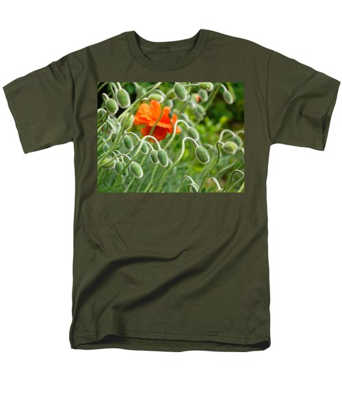 Men's T-Shirt  (Regular Fit) featuring the photograph The Poppy by Evelyn Tambour