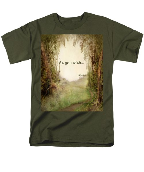 The Princess Bride - As You Wish Men's T-Shirt  (Regular Fit) by Paulette B Wright