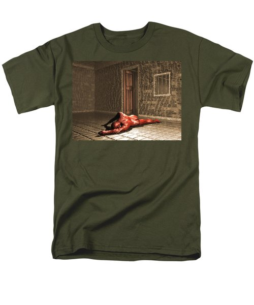 Men's T-Shirt  (Regular Fit) featuring the digital art The Prisoner by John Alexander