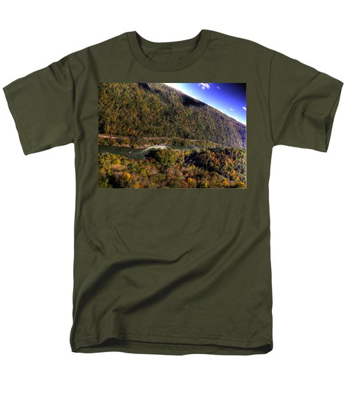 Men's T-Shirt  (Regular Fit) featuring the photograph The River Below by Jonny D
