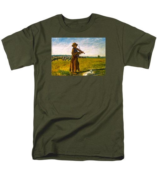 Men's T-Shirt  (Regular Fit) featuring the painting The Shepherd by Henryk Gorecki