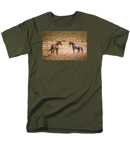 Men's T-Shirt  (Regular Fit) featuring the photograph The Standoff  by Janis Knight