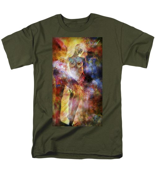 Men's T-Shirt  (Regular Fit) featuring the mixed media The Touch by Ally  White