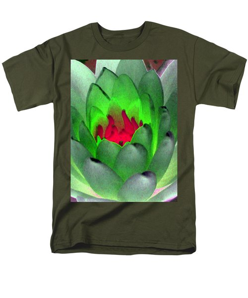 Men's T-Shirt  (Regular Fit) featuring the photograph The Water Lilies Collection - Photopower 1122 by Pamela Critchlow