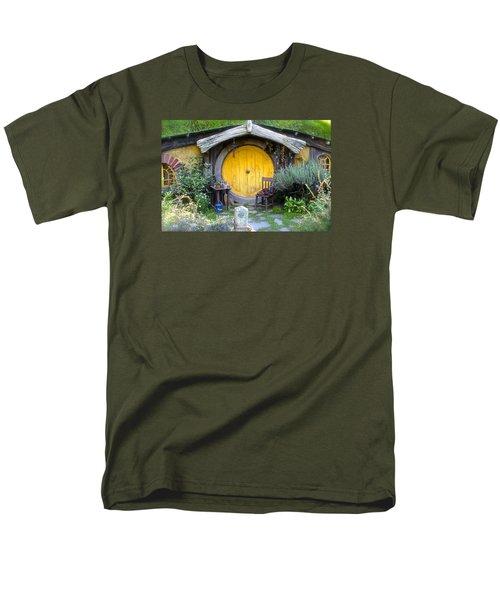 The Yellow Hobbit Door Men's T-Shirt  (Regular Fit) by Venetia Featherstone-Witty