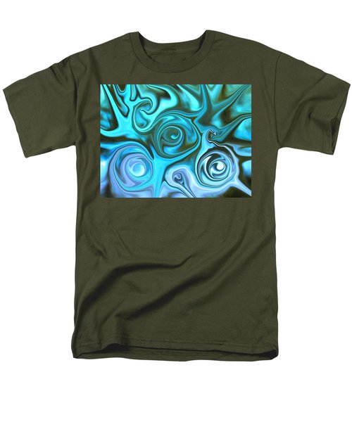 Turquoise Swirls Men's T-Shirt  (Regular Fit)