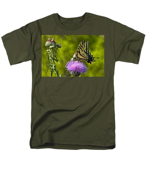 Men's T-Shirt  (Regular Fit) featuring the photograph Thistle Do Just Fine by Gary Holmes