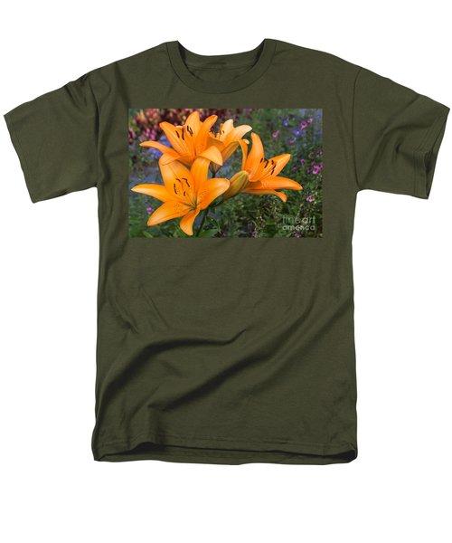 Men's T-Shirt  (Regular Fit) featuring the photograph Tiger Lilies by Arlene Carmel