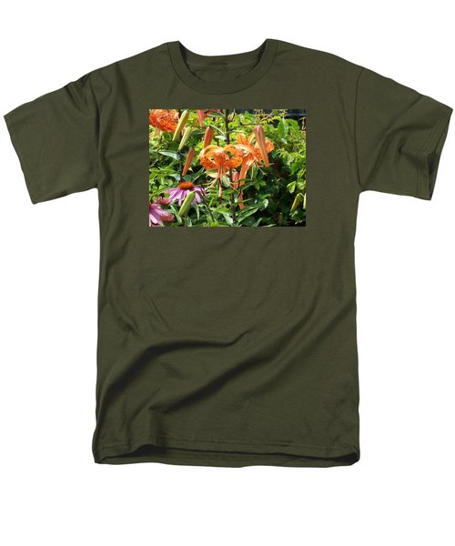 Tiger Lilies Men's T-Shirt  (Regular Fit) by Catherine Gagne