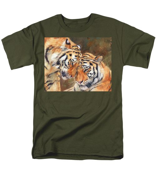 Tiger Love Men's T-Shirt  (Regular Fit) by David Stribbling