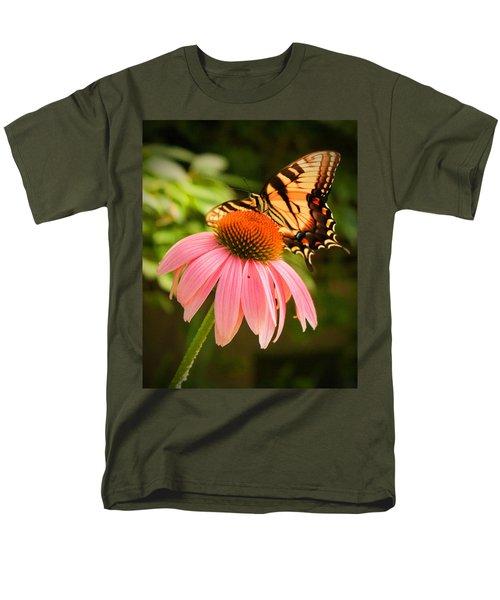 Tiger Swallowtail Feeding Men's T-Shirt  (Regular Fit) by Michael Porchik